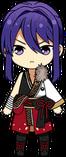 Souma Kanzaki AKATSUKI Uniform (1st Year Hairstyle) chibi