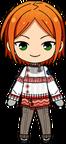 Hinata Aoi Winter CM Outfit chibi