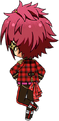 Mao Isara ES Trickstar Uniform chibi back