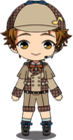 Mitsuru Tenma Detective chibi
