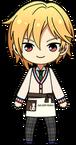 Nazuna Nito Student Uniform (Winter + Cat Cafe Apron) chibi