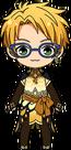 Makoto Yuuki Butterfly Outfit chibi