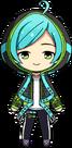 Kanata Shinkai Aquarius Outfit chibi