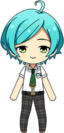 Kanata Shinkai summer student uniform chibi