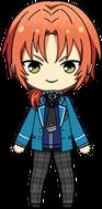 Leo Tsukinaga student uniform chibi