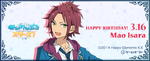 Mao Isara Birthday 2017 Gamegift Banner