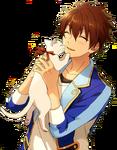 (Kitten and Sunset) Chiaki Morisawa Full Render Bloomed