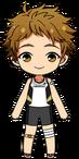 Mitsuru Tenma Track Club Uniform (With Bandages) chibi