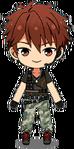 Chiaki Morisawa Military Outfit chibi