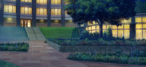 Seisou Hall Courtyard (Night - Bright) Full