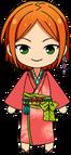 Hinata Aoi Rainy Season Kimono chibi
