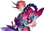 (Orange Red Ogre) Subaru Akehoshi Full Render Bloomed