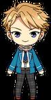 Arashi Narukami student uniform and scarf chibi