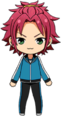 Mao Isara Track uniform chibi