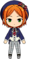 Yuta Aoi School Uniform From Somewhere chibi