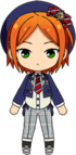 Yuta Aoi School Uniform From Somewhere chibi