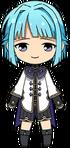 Hajime Shino Assistant Commander chibi