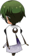 Keito Hasumi Scroll of the Elements chibi back
