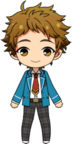 Mitsuru Tenma student uniform chibi
