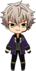 Koga Oogami Holiday Party chibi