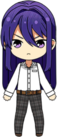 Souma Kanzaki Student Uniform Shirt (Hair Down) chibi