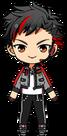 Tetora Nagumo Patrol Hero Outfit chibi
