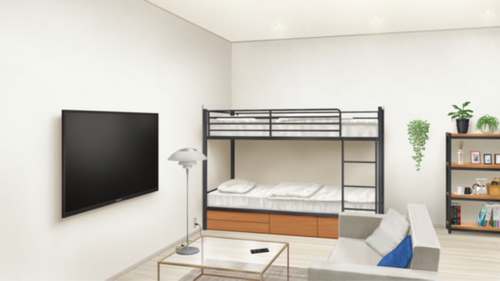 Reimei Academy Dorms (Hiyori and Jun's Personal Room) Full