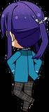 Souma Kanzaki Student Uniform (Winter) chibi back