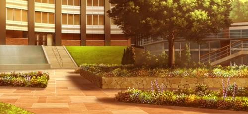Seisou Hall Courtyard (Evening) Full