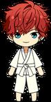 Hiiro Amagi Karate (White Belt) chibi