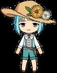 Hajime Shino Gardener chibi