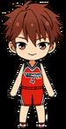 Chiaki Morisawa Basketball Club Uniform chibi