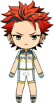 Kuro Kiryu Cycling Jersey Outfit chibi