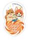 Daikichi Leon Mademoiselle Acrylic Badge