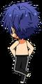 Jun Sazanami Eve Practice (Shirtless) chibi back