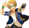 (Cheerful Glasses Boy) Makoto Yuuki Full Render Bloomed