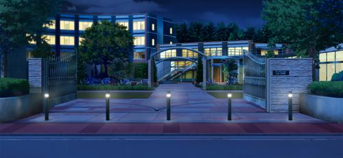 Seisou Hall (Exterior) (Night - Bright) Full