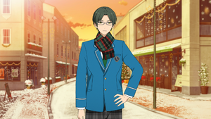 Keito Hasumi Student Uniform (Winter + Scarf) Outfit