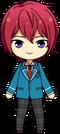 Tsukasa Suou student uniform chibi