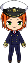 Hinata Aoi Captain for a Day Outfit chibi