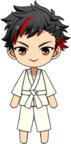Tetora Nagumo Karate gi Uniform chibi
