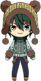 Mika Kagehira Matching with Bear Outfit chibi
