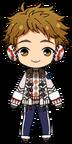 Mitsuru Tenma Winter CM Outfit chibi