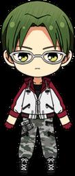Keito Hasumi Sportswear (Red) chibi