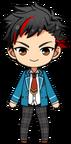 Tetora Nagumo student uniform chibi