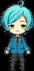 Kanata Shinkai student uniform chibi