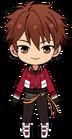 Chiaki Morisawa RYUSEITAI uniform chibi