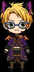Makoto Yuuki Halloween Outfit chibi
