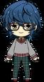 Tsumugi Aoba Matching with Bear Outfit chibi