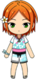 Yuta Aoi Beach Bar Swimwear chibi